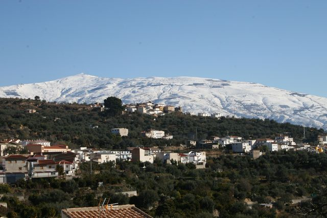 Albunuelas Lecrin Valley Snow
